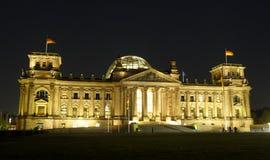 Berliński Reichstag budynek Przy nocą Obraz Stock