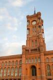 Berliński urząd miasta w Niemcy (Rotes Rathaus) Zdjęcia Stock