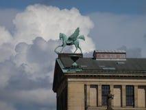 2014 Berlińskich Niemcy, oskrzydlony koń Obrazy Royalty Free