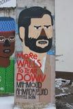 Berlińskiej ściany element Zdjęcia Royalty Free