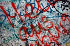 Berlińskiej ściany graffiti Obraz Royalty Free
