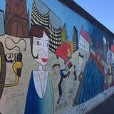 Berlińskiej ściany Niemcy graffiti fotografia royalty free