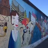 Berlińskiej ściany Niemcy graffiti fotografia stock