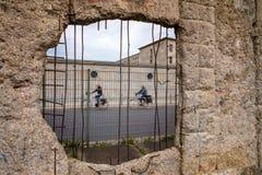BERLIŃSKIEJ ściany resztki Berlin, NIEMCY, WRZESIEŃ 22 i m -, 2015 - obraz stock