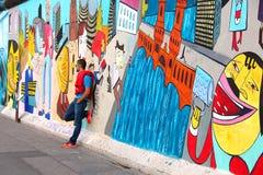 Berlińskiej ściany wschodniej części galeria fotografia royalty free