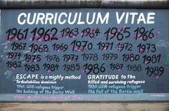 Berlińskiej ściany wschodniej części galerii program nauczania - vitae graffiti Obraz Royalty Free