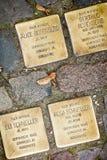 Berli,德国- Stolpersteine 免版税图库摄影