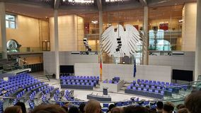 Berlińczyk Bundestag obrazy stock