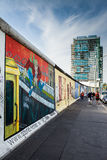 Berlin - East Side Gallery. Burals on Berlin Wall Royalty Free Stock Images