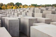 Berlin, Germany. Jewish Memorial. Berlin - Germany - October 02, BERLIN - GERMANY - OCTOBER 02. Concrete stones - Memorial to the Murdered Jews of Europe. Berlin royalty free stock photos
