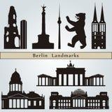 Berlińscy punkty zwrotni i zabytki Zdjęcia Royalty Free