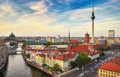 Berlińska miasto linia horyzontu Obrazy Royalty Free