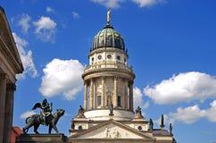 Berliński gendarmenmarkt lew Obraz Royalty Free