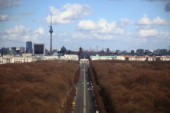 Berliński miasto widok Zdjęcia Stock