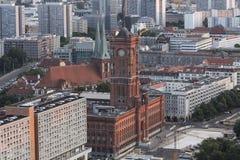 Berliński townhall Germany od above zdjęcia royalty free