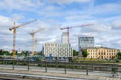 Berlijn in aanbouw met Hotelibis en Sociaal Hof Royalty-vrije Stock Foto's