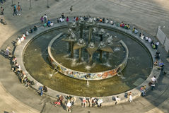 Berlijn Alexanderplatz Stock Foto's