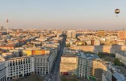 Berlijn die luchtcityscape, Duitsland gelijk maken stock foto