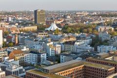 Berlijn die luchtcityscape, Duitsland gelijk maken royalty-vrije stock afbeelding