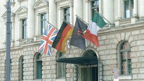 BERLIJN, DUITSLAND - APRIL 30, 2018 Hotelde Rome ingang Royalty-vrije Stock Foto