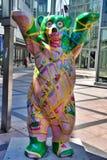 Berlijn, Duitsland Het beerbeeldhouwwerk Stock Fotografie