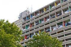 BERLIJN, DUITSLAND - JULI 2014: Corbusier Haus werd langs ontworpen Royalty-vrije Stock Foto's