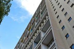 BERLIJN, DUITSLAND - JULI 2014: Corbusier Haus werd langs ontworpen Stock Foto's