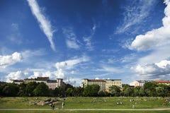 Vrije tijd in Gorlitzer Park Berlijn Duitsland Royalty-vrije Stock Afbeeldingen