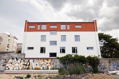 De Muur van Berlijn Bernauer Strasse royalty-vrije stock foto