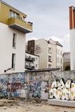 De Muur van Berlijn Bernauer Strasse stock fotografie
