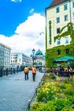 Berlijn, Duitsland - Mei 25, 2015: dijk die Berlin Cathedral overzien - de grootste Protestantse kerk in Duitsland Royalty-vrije Stock Afbeeldingen