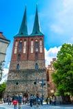 Berlijn, Duitsland - Mei 25, 2015: Kerk van Sinterklaas in Berlijn Royalty-vrije Stock Fotografie