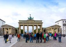 BERLIJN, DUITSLAND 8 Oktober, 2016: De Poort van Brandenburg (Brandenburge Stock Fotografie