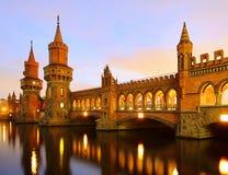 Berlijn Oberbaumbridge Stock Foto