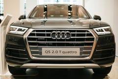 Berlijn, 2 Oktober, 2017: Volkswagen-Groep Forum - een autoshow in Berlijn Presentatie van nieuwe quattro van Audi Q5 in Royalty-vrije Stock Afbeeldingen
