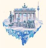 Berlijn sneeuw Vector Illustratie