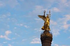 Berlijn van Siegessäule dichte omhooggaand Royalty-vrije Stock Afbeeldingen