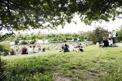 Domingo no parque Berlim Alemanha de Mauer foto de stock royalty free