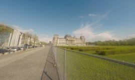 Berlim, Alemanha - 2019 A construção de Reichstag do governo alemão em Berlim fotos de stock royalty free