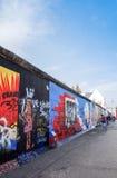 BERLIM, ALEMANHA 15 de outubro de 2014: Berlin Wall era um engodo da barreira Fotos de Stock Royalty Free