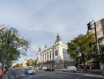 BERLIM, ALEMANHA - 25 DE SETEMBRO DE 2012: Ação da rua da manhã em Berlim, Alemanha Fotos de Stock