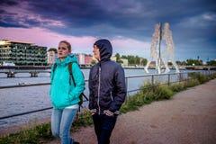 BERLIM, ALEMANHA - 20 DE SETEMBRO DE 2015: Os homens da molécula em Berlim Foto de Stock