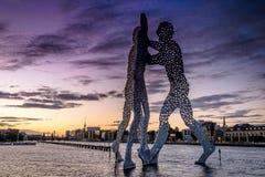 BERLIM, ALEMANHA - 20 DE SETEMBRO DE 2015: Os homens da molécula em Berlim Foto de Stock Royalty Free