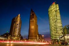 BERLIM, ALEMANHA - 24 DE SETEMBRO DE 2015: skyline do d financeiro Fotografia de Stock Royalty Free