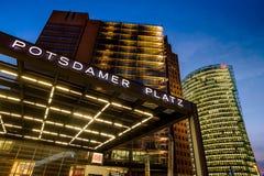 BERLIM, ALEMANHA - 24 DE SETEMBRO DE 2015: skyline do d financeiro Imagem de Stock