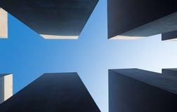 BERLIM, ALEMANHA, FEVEREIRO - 13, 2017: O memorial do formulário do detalhe do holocausto Imagens de Stock