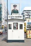 Berlim, Checkpoint Charlie Fotografia de Stock Royalty Free
