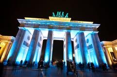 Berlim, festival de luzes Imagem de Stock Royalty Free