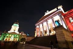 Berlim, iluminação de Gendarmenmarkt Fotos de Stock