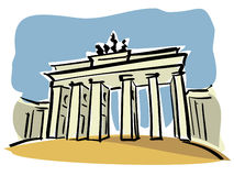 Berlim (porta de Brandebourg) ilustração do vetor